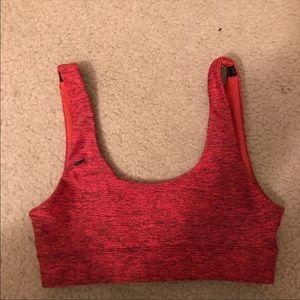 Red Lorna Jane sports bra